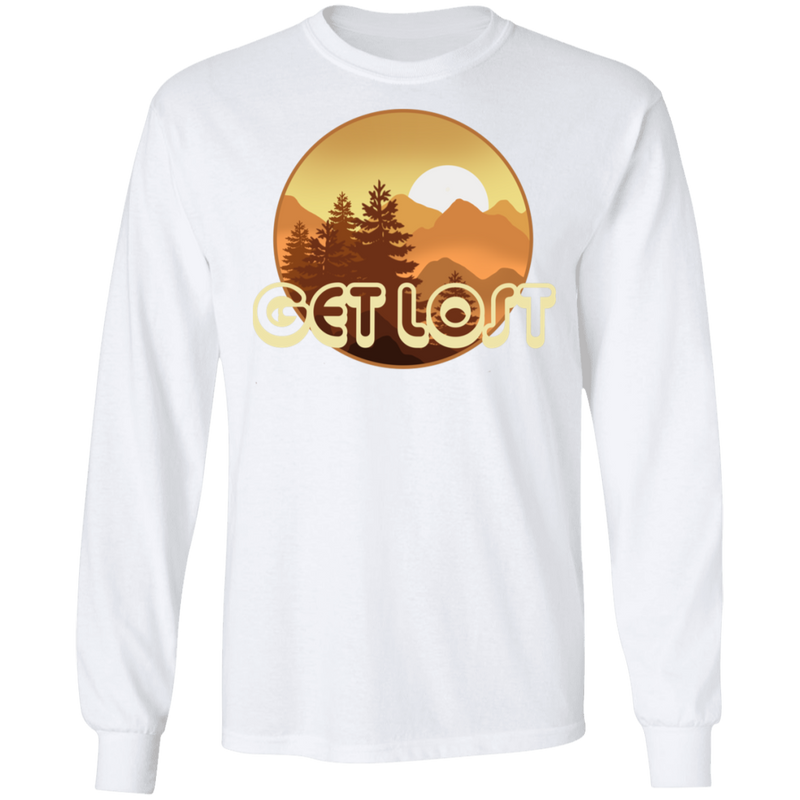 Get Lost in Nature Camping Long Sleeve T-Shirt