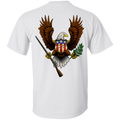 1776 American Bald Eagle Double Sided T-Shirt