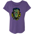 Reanimated Monster Frank Halloween Trick or Treat Women's Triblend Dolman Sleeve