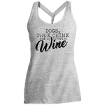 Dogs, True Crime and my Favorite Can of Wine Women's Cosmic Twist Back Tank