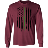 Border Patrol Park Rangers Conservation Thin Green Line Long Sleeve T-Shirt