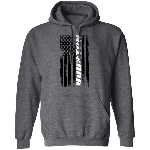 Houston Texas American Flag Pullover Hoodie