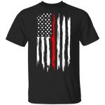 Firefighter Thin Red Line American Flag T-Shirt