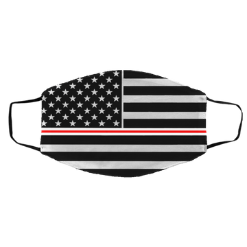 Nurse RN Thin Red Line American Flag Med/Lg Face Mask