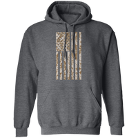 Desert Camo American Flag Pullover Hoodie