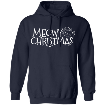 Meowy Christmas Kitty Cat Elf Pullover Hoodie