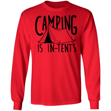Camping is In-Tents Funny Long Sleeve T-Shirt