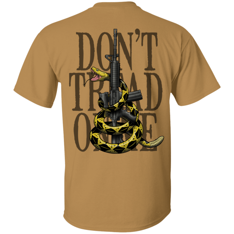 Patriot Don't Tread on Me Gadsden Flag Double Sided T-Shirt