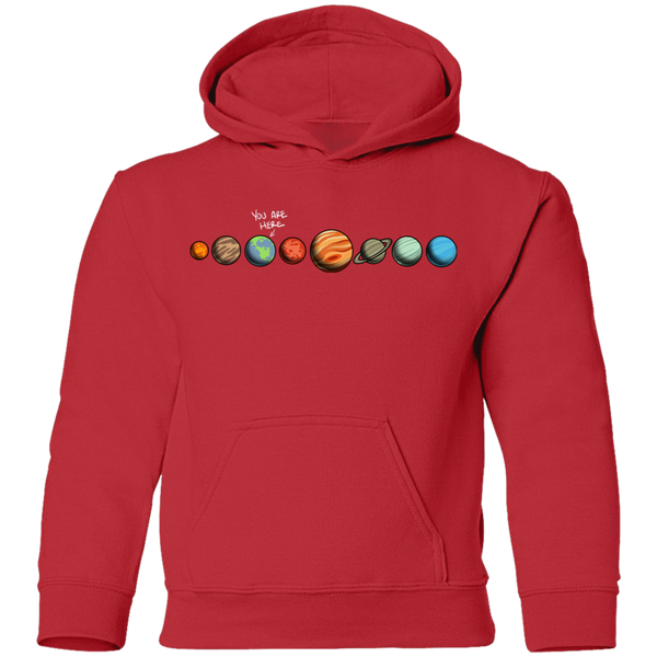 Youth Space Earth You Are Here Pullover Hoodie