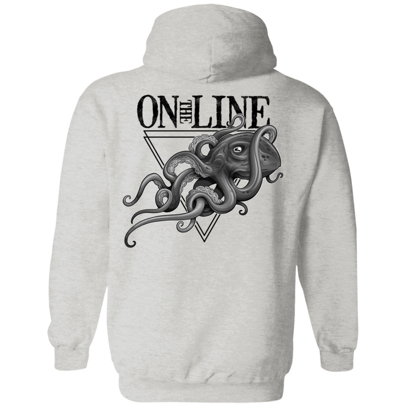 Giant Octopus On The Line Saltwater Double Sided Pullover Hoodie