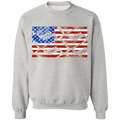 Handgun Pistol Firearm American Flag Crewneck Sweatshirt