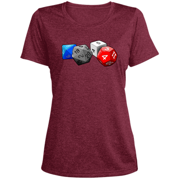 Role Play Dice Women's Heather Dri-Fit Moisture-Wicking T-Shirt