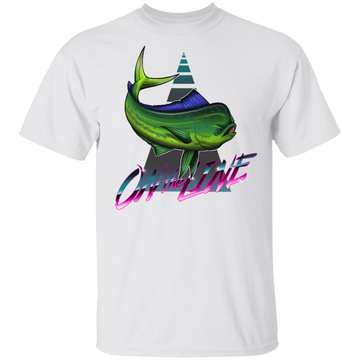 Dorado Mahi-mahi Fish On The Line Saltwater T-Shirt