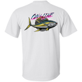 Yellowfin Tuna On The Line Saltwater Double Sided T-Shirt