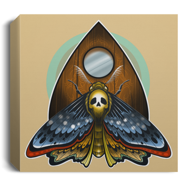 Death Head Moth Ouija Square Canvas 1.5in Frame
