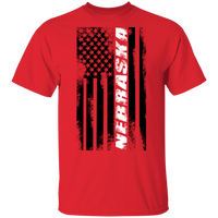 Nebraska American Flag T-Shirt