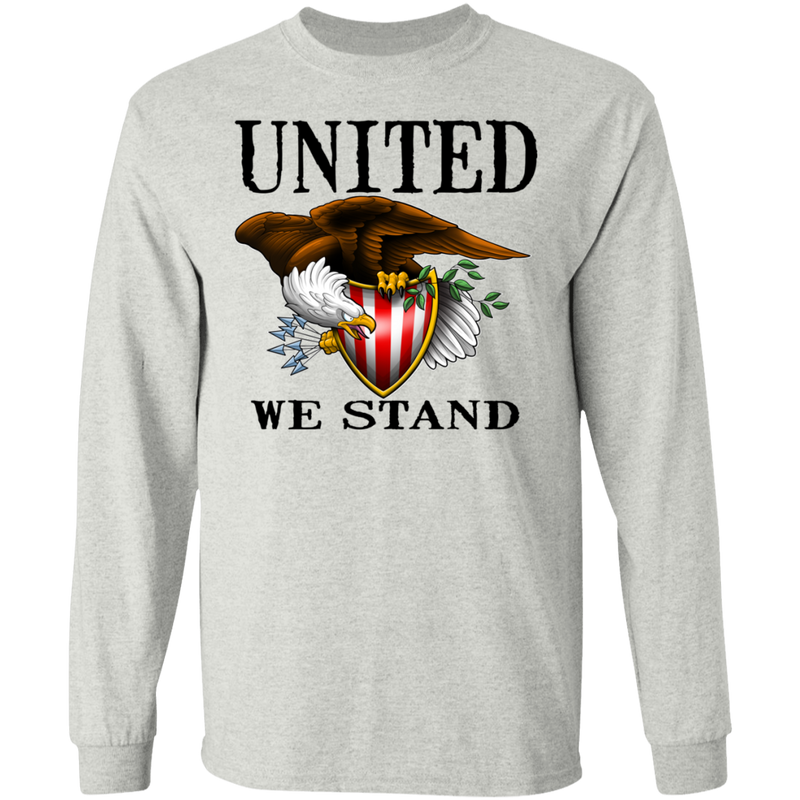 United We Stand Bald Eagle Long Sleeve T-Shirt