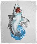 Great White Shark Saltwater Plush Fleece Blanket - 50x60