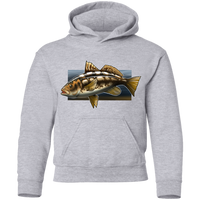 Youth Calico Bass Kelp Bass Saltwater Pullover Hoodie
