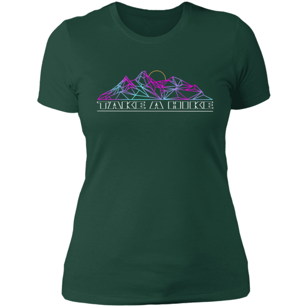 Women's Take a Hike Abstract Camping Nature T-Shirt