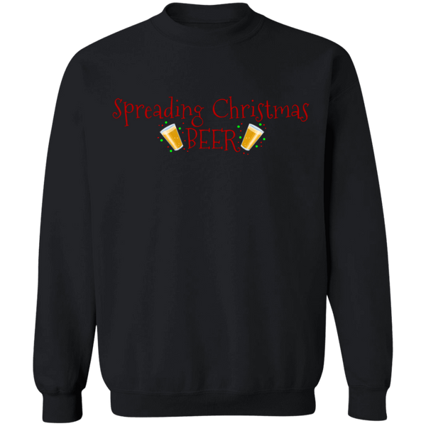 Spreading Christmas Beer Funny Ugly Christmas Crewneck Sweatshirt