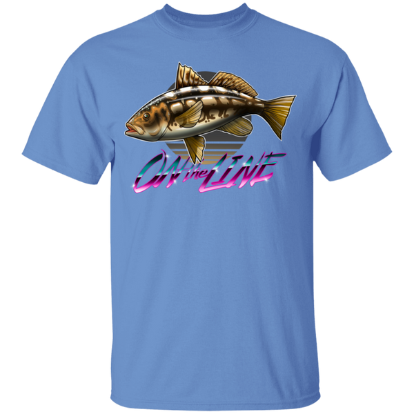 Calico Bass Kelp Bass On The Line Saltwater Youth T-Shirt