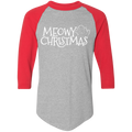 Meowy Christmas Kitty Cat Ugly Christmas Baseball Raglan T-Shirt