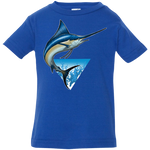 Infant Blue Marlin Saltwater Fish Jersey T-Shirt