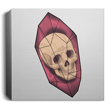 Skull Crystal Square Canvas 1.5in Frame