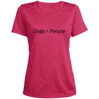 Dogs > People Women's Heather Dri-Fit Moisture-Wicking T-Shirt