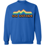 Go Outside Camping Nature BrightCrewneck Sweatshirt