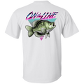 White Crappie Perch On The Line Saltwater Double Sided T-Shirt