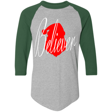 Santa Believer Ugly Christmas Baseball Raglan T-Shirt