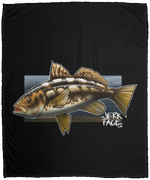 Calico Bass Kelp Bass Saltwater Plush Fleece Blanket - 50x60