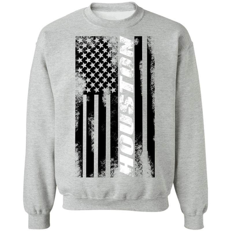 Houston Texas American Flag Crewneck Sweatshirt