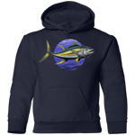 Youth Yellowfin Tuna Saltwater Fish Pullover Hoodie
