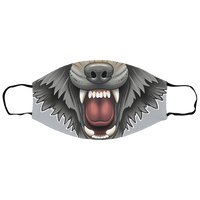 Wolf Snarling Sm/Med Face Mask