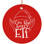 I'm the bossy Elf Funny Christmas Ceramic Ornament