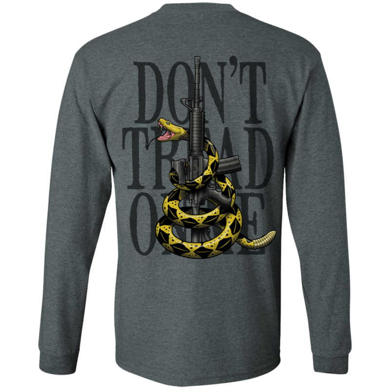 We the People Don't Tread on Me Gadsden Flag Double Sided Long Sleeve T-Shirt