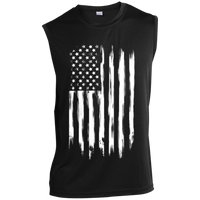 American Flag Sleeveless Performance T-Shirt