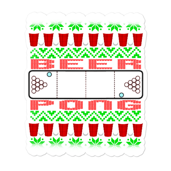 Beer Pong Merry Christmas Sticker