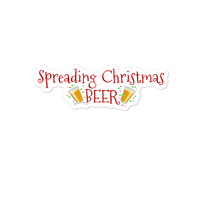 Spreading Christmas Beer Cheer Sticker