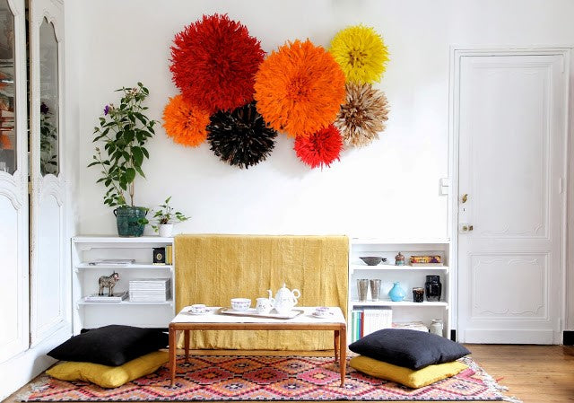 A cluster of Juju Hats make a spectaular wall feature