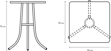 bica table schematic and dimensions