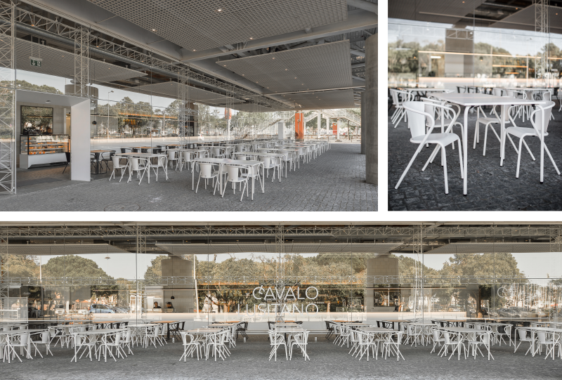 bica chairs and tables outdoor white