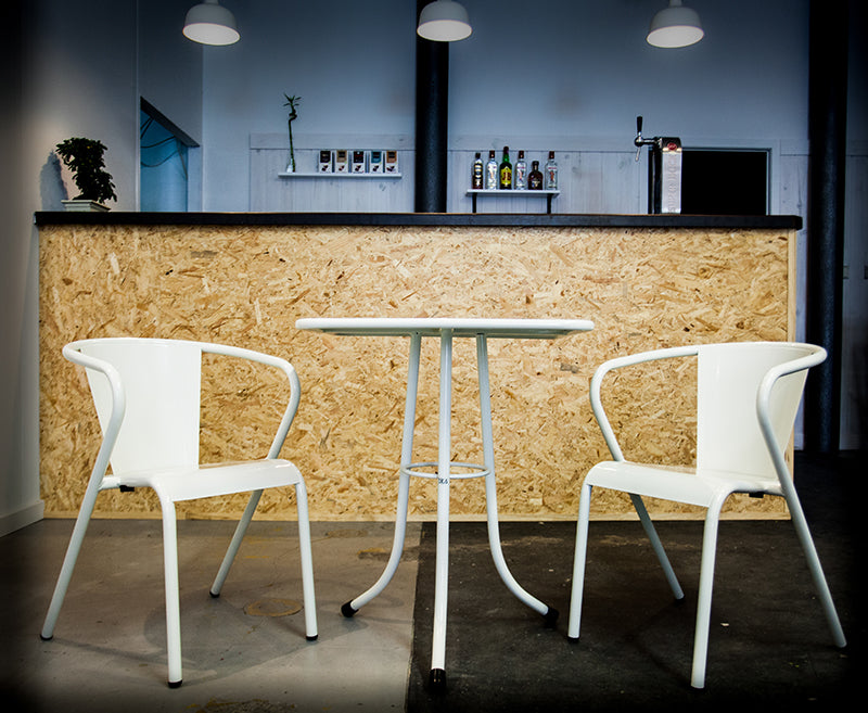 bica chair table and chair  white