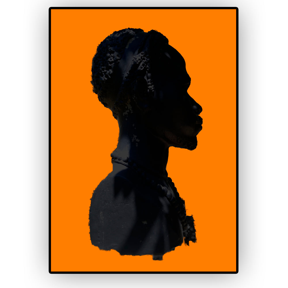 African Man Silhoette Wall Poster By Hershgold