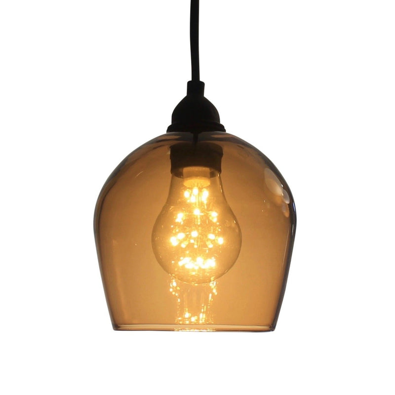 OneFoot Taller  Honey Colour Bell Bathroom, IP44 Glass Pendant Light