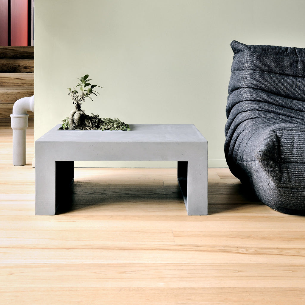 Lyon Beton Concrete Urban Garden Square Coffee Table