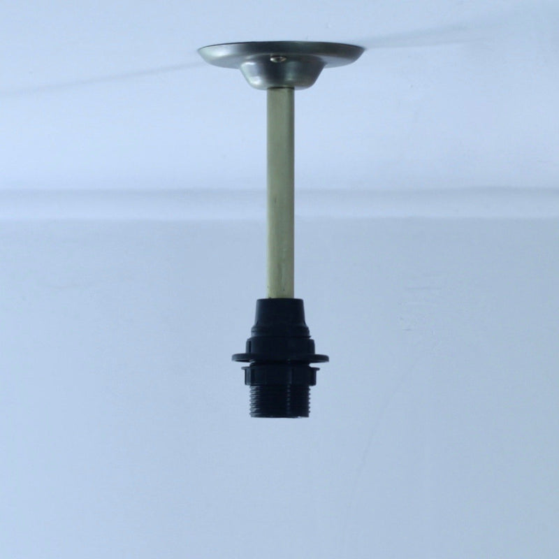 Fixed Drop Brass 100mm lighting suspension 150mm to top of shade, lights for low ceilings